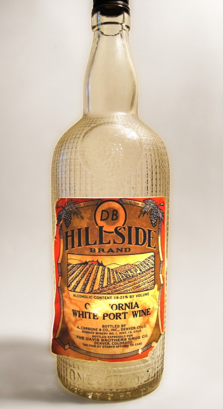 DB HILLSIDE BRAND California White Port Wine