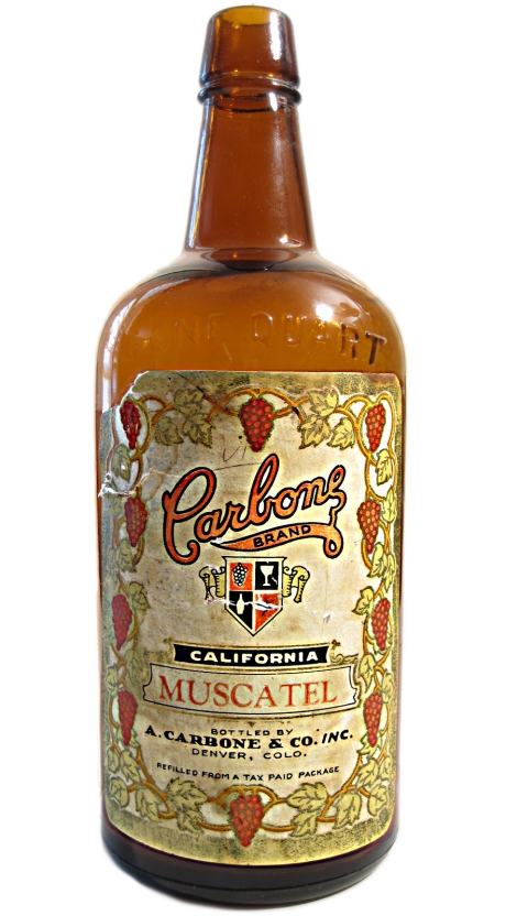 Carbone Wine Muscatel Bottle - Pre-Prohibition
