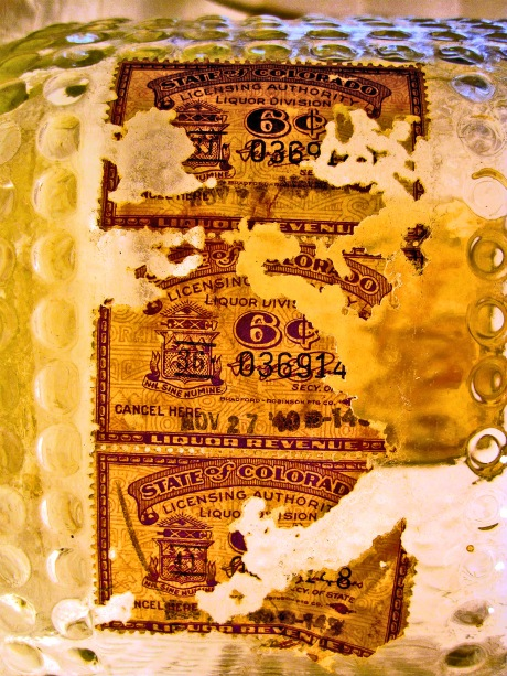 Carbone Wine; 3 Six-Cent Tax Stamps dated Nov. 27, 1940